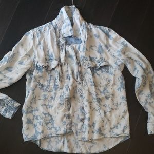 Guess faded denim button shirt